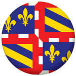 Burgundy Province Flag 58mm Button Badge